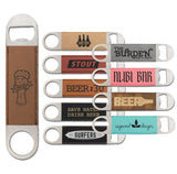 Leatherette Stainless Speed Bar Bottle Openers