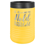 Polar Camel Insulated Beverage Holder for 12/16 oz Cans and Bottles | Yellow