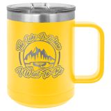 15 oz. Polar Camel Insulated Mug with Slider Lid | Yellow