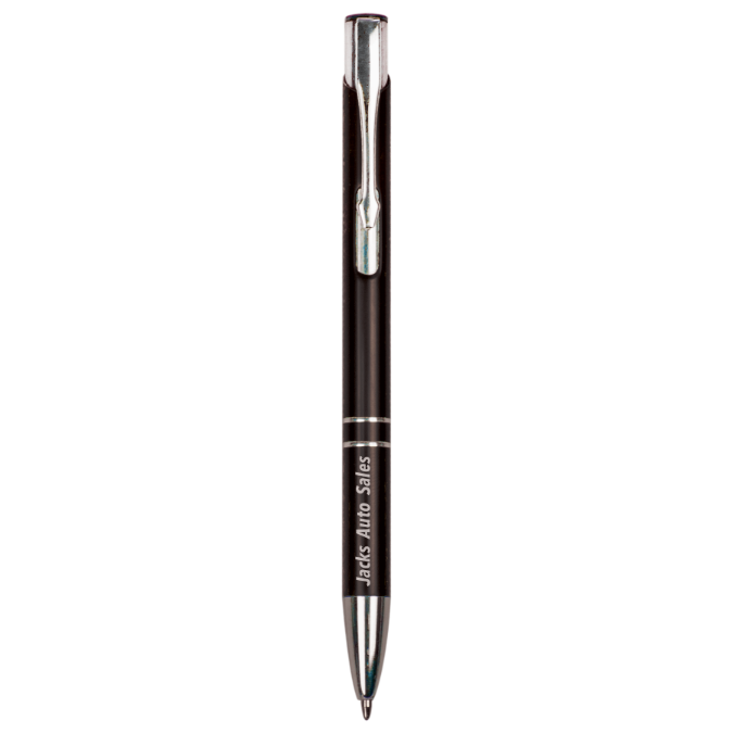 Customizable Ballpoint Pens with Silver Accents | 5 COLORS