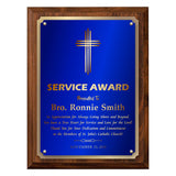 LA Trophies - Religious Christian Award Plaque with Gold Accent and GOLD Engraving - 8x10, 9x12 | 5 PLATE COLORS