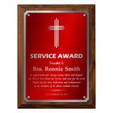 LA Trophies - Religious Christian Award Plaque with SILVER Accent and SILVER Engraving - 8x10, 9x12 | 5 PLATE COLORS