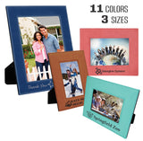 Customizable Leatherette Photo Picture Frames | 3 SIZES | 11 Colors Available