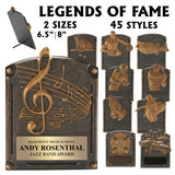 Legends of Fame Series Antique Gold Resin Plate Plaques  | 2 SIZES | 45 STYLES