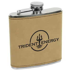 Leatherette 6 oz. Flask | 11 COLORS