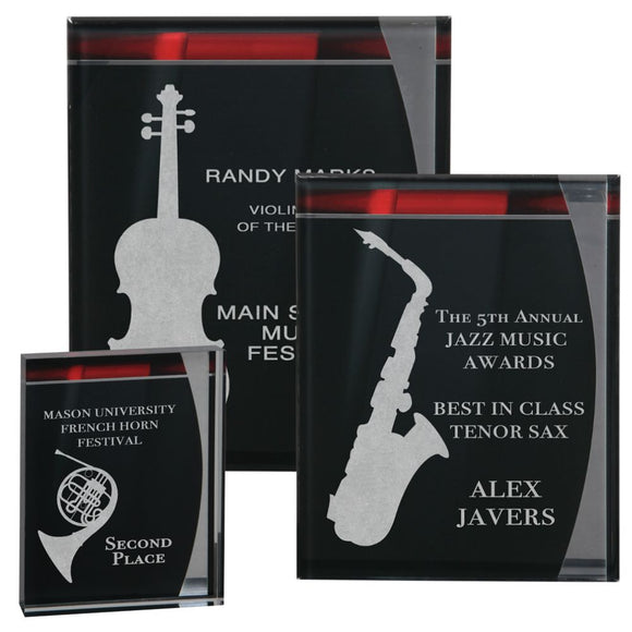 Premier - Lustre Series Acrylic Wall Plaques and Standup Award | 3 OPTIONS