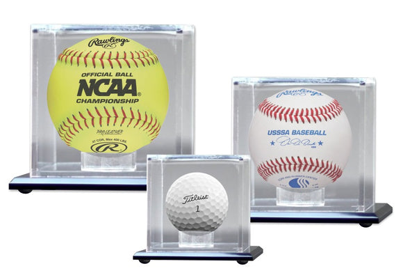 Mirrored Display Cases for Small Sport Balls | 3 SIZES