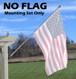 OUTDOOR - REGAL NEVERFURL Endura Nylon 3' x 5' Flag Sets in White or Black