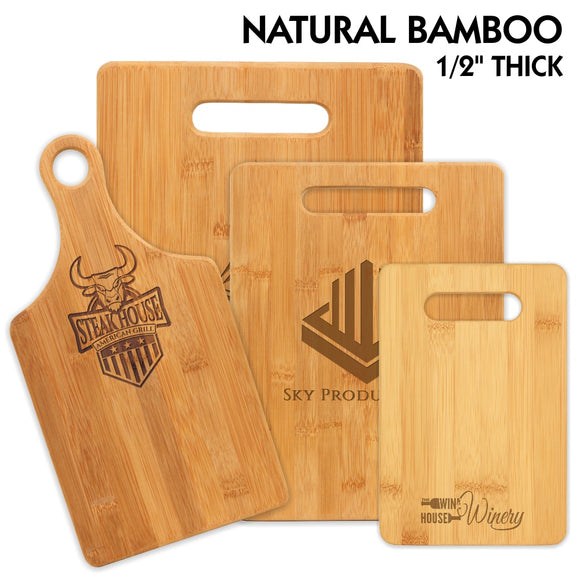 All Natural Bamboo Cutting Boards | 4 SIZES