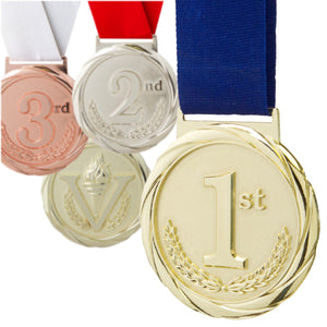 "3-1/4"" Olympic Style Medals on 1-1/2"" Wide Neck Ribbons 