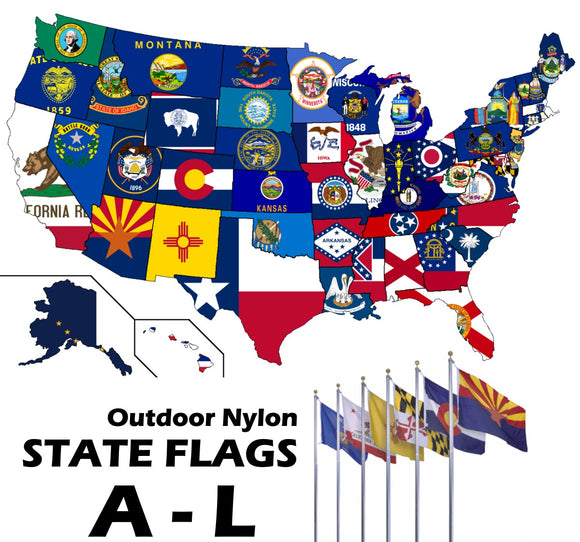 ENDURA-NYLON Outdoor STATE Flags | A-L (Alabama - Louisiana)