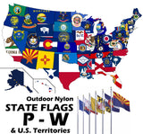 ENDURA-NYLON Outdoor STATE Flags | P-W (Pennsylvania - Wyoming) & U.S. Territories