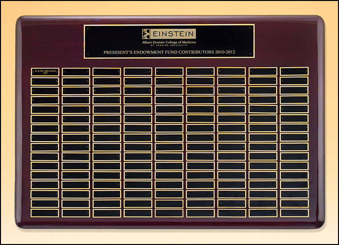 Airflyte Roster Series 12 to 144 Plate Perpetual plaques with Rosewood Piano-Finish | 9 SIZES