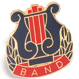 Die Struck Enamel Filled Band Lapel Pins - 25 PIECE PACK