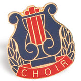 Die Struck Enamel Filled Choir Lapel Pins - 25 PIECE PACK