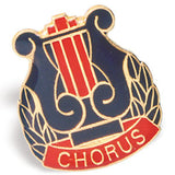 Die Struck Enamel Filled Chorus Lapel Pins - 25 PIECE PACK