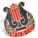 Die Struck Enamel Filled Music Lapel Pins - 25 PIECE PACK