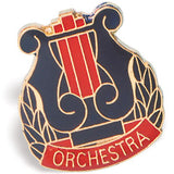 Die Struck Enamel Filled Orchestra Lapel Pins - 25 PIECE PACK
