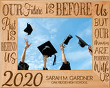 "Graduation Celebration Red Alder Laser Engraved 5"" x 7"" Photo Picture Frames 