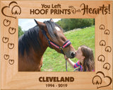"Horse left Hoof Prints on Our Hearts 5"" x 7"" Photo Picture Frame"