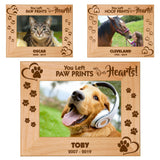 "Pet Memories Leave Paw Prints on Our Hearts 5"" x 7"" Photo Picture Frames 