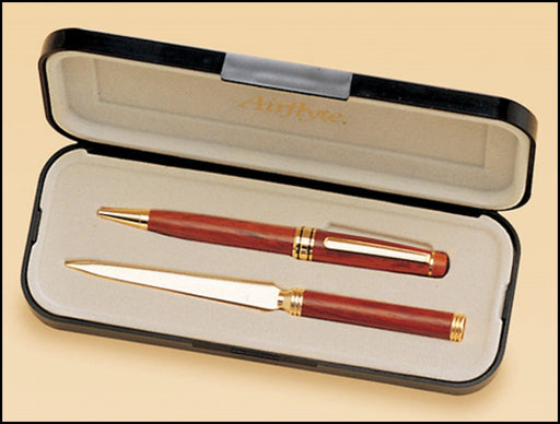 Airflyte Rosewood-finish Pen and Letter Opener set