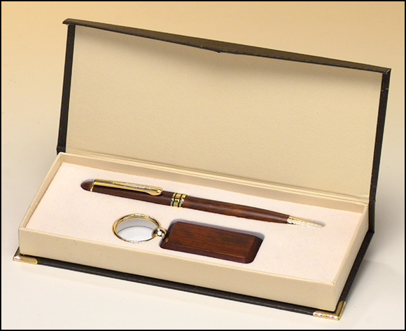 Airflyte Rosewood-finish Pen and Key Ring set