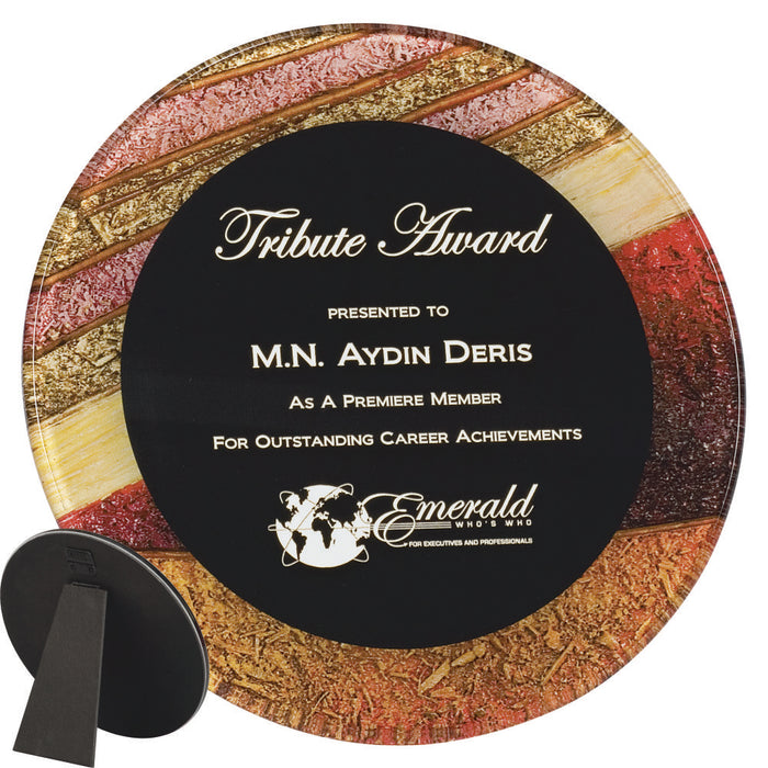 Premier - Artistically Inspired Round Acrylic Plaques | 2 SIZES | 3 COLORS