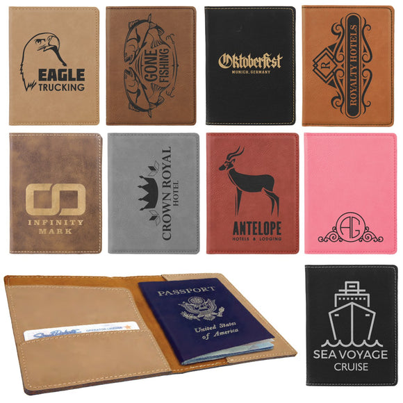 Customizable Leatherette Passport Holders | 9 COLORS