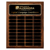 LA Trophies - 12x15 Perpetual Plaque with 36 Plates - Black with Gold Engraving