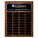 LA Trophies - 12x15 Perpetual Plaque with 36 Plates - Black with Silver Engraving
