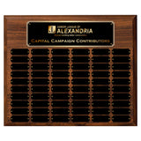 LA Trophies - 15x18 Perpetual Plaque with 60 Plates - Black with Gold Engraving