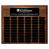 LA Trophies - 15x18 Perpetual Plaque with 60 Plates - Black with Silver Engraving
