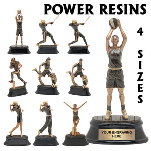 Power Series Sport Resin Awards | 10 STYLES | 4 SIZES – Louisiana