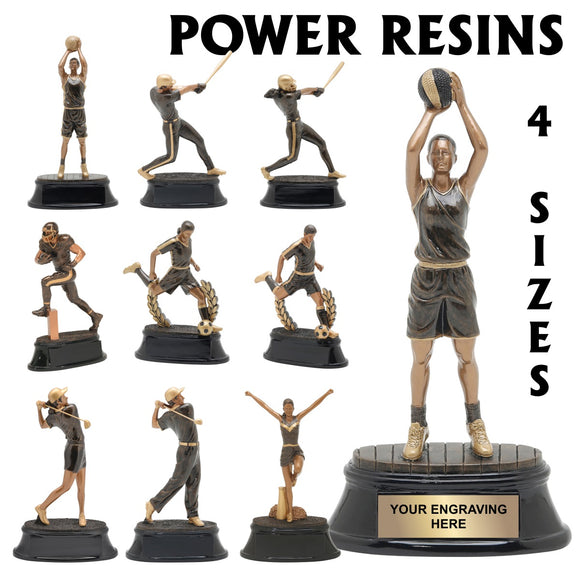 Power Series Sport Resin Awards | 10 STYLES | 4 SIZES