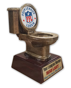 Fantasy Football League Toilet Bowl Resin Trophy