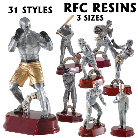 RFC Series Sport and Activity Resin Awards | 31 STYLES | 3 SIZES