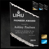 LA Trophies - Sculpted Mountain Acrylic Award with Color Accent Pieces | 3 COLORS | 3 SIZES