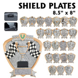 Shield Series Silver and Gold Sport Activity Resin Plates | 24 STYLES