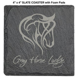 "Slate Stone 4"" Round and Square Coasters 