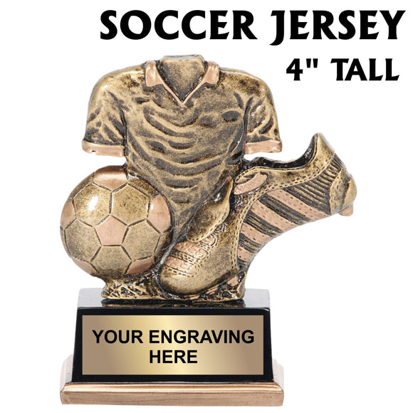Soccer Jersey Resin 4 inch Award Trophy