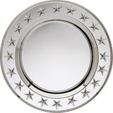 Engravable Silver Plated 3D Star Charger Award Tray | 3 SIZES