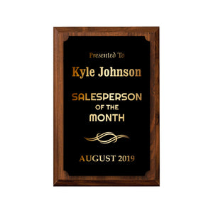 LA Trophies - Small Plaques with Solid Color Plate and GOLD Engraving - 4x6, 5x7 | 5 PLATE COLORS