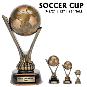 Super Soccer Series Sport Ball Cup Resin Award | 3 SIZES