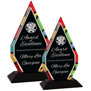 Premier - Stained Glass Inspired Diamond Acrylic Award | 2 SIZES