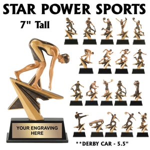 Star Power Series Sport Activity Resin Awards | 21 STYLES
