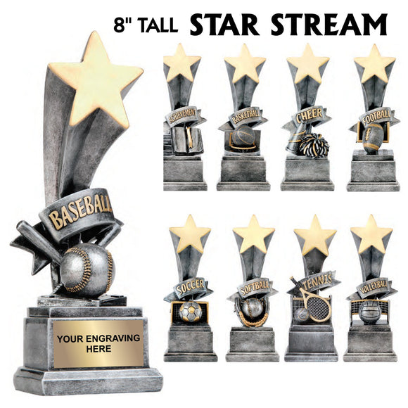 Star Stream Series Sport Activity Resin Awards | 10 STYLES