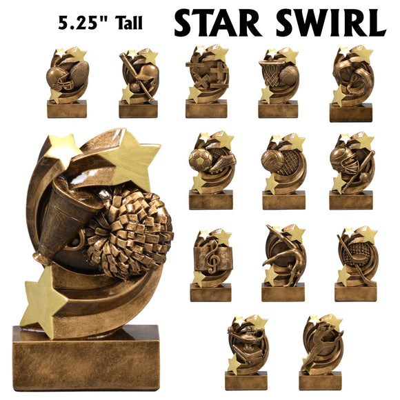 Star Swirl Series Sport Activity Resin Awards | 14 STYLES
