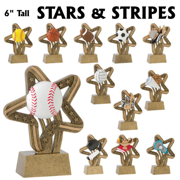 Stars and Stripes Series Sport Activity Resin Awards | 12 STYLES