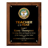 LA Trophies - Teacher and Student of the Year Award Plaques - 7x9, 8x10 | 5 PLATE COLORS